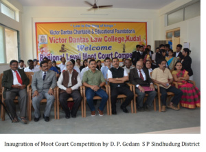 Inaugration of Moot Court Competition by D P Gedam S P Sindhudurg District