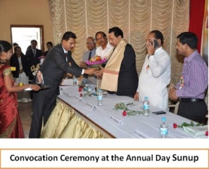 Convocation Ceremony at the Annual Day Sunup