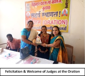 Felicitation & Welcome of Judges at the Oration