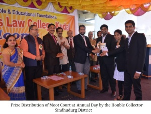 Prize Distribution of Moot Court at Annual Day by the Honble Collector Sindhudurg District (1)